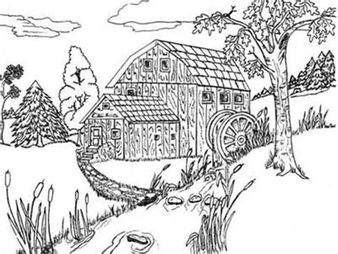 advanced landscape coloring pages pin by janet jagger on coloring pages pinterest