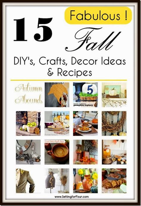 Fall Giveaway Ideas - 15 fabulous fall decor ideas diy s recipes setting for 4
