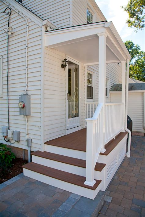 porch deck porch renovation in glastonbury with composite decking and