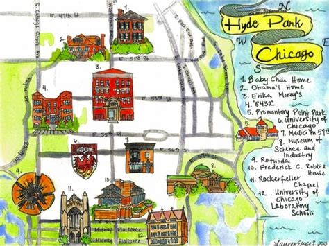 chicago map illustration 18 best images about hyde park neighborhood guide on