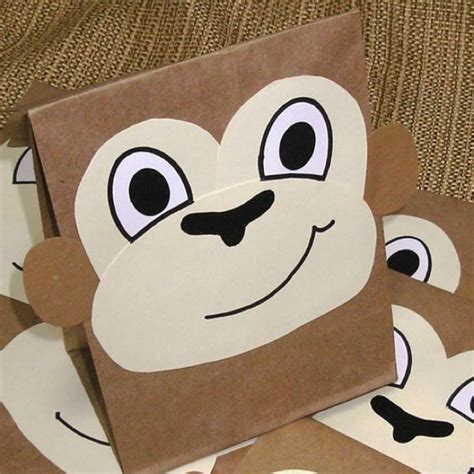 Paper Bag Monkey Craft - sacks bags and paper bags on