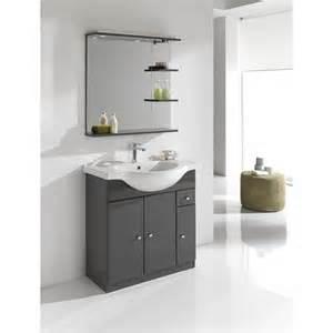 Exceptionnel Miroir Salle De Bain Avec Eclairage Et Tablette #2: meuble-de-salle-de-bains-galice-gris.jpg
