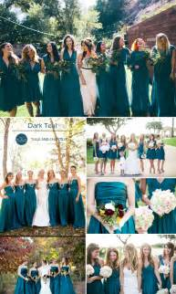 teal wedding colors top 10 colors for fall bridesmaid dresses 2015 tulle