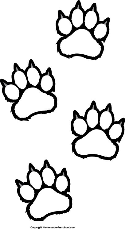 paw print coloring page free paw prints clipart