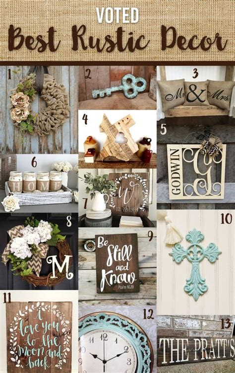 best rustic decor shabby chic home decor rustic burlap