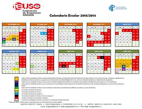 Calendario Escolar Aragon 2013 Y 2014 Recursos Educativos De Primaria Calendario Escolar 2013