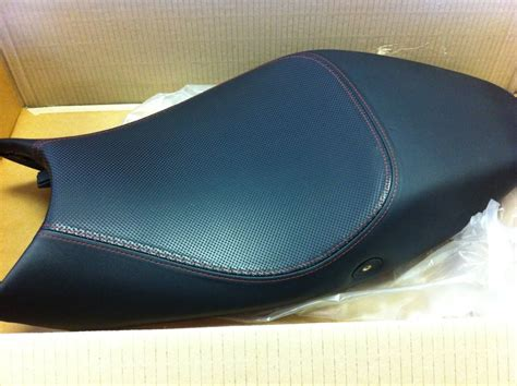 Custom Motorcycle Seat Upholstery Red Stitching Tucson