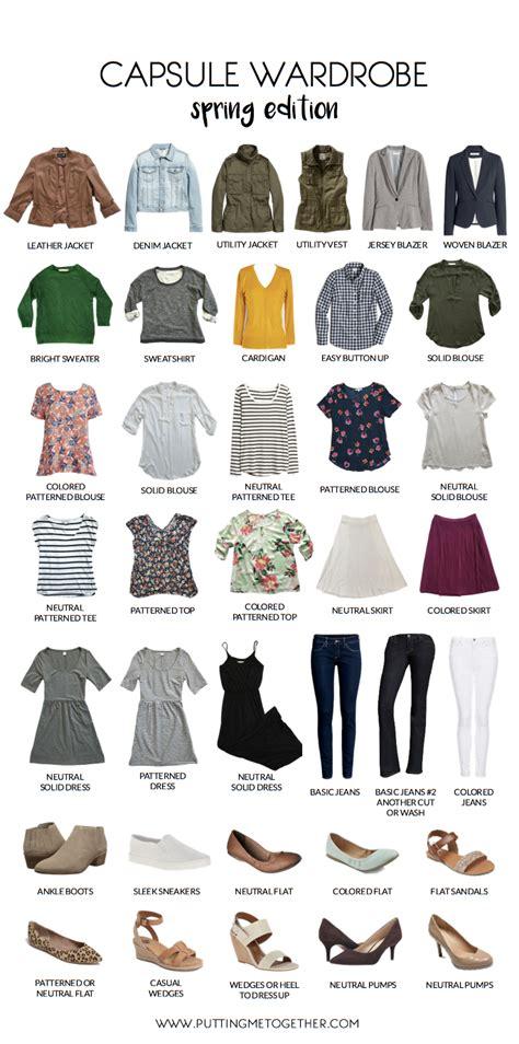 capsule wardrobe spring 2016 spring capsule sle wardrobe putting me together