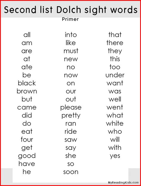 printable flash cards dolch sight words dolch sight word worksheets pdf dolch sight words lists