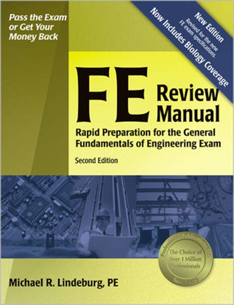 fe review manual rapid preparation   general fundamentals  engineering exam  michael