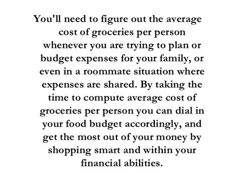 average cost of groceries per month average cost of food per month
