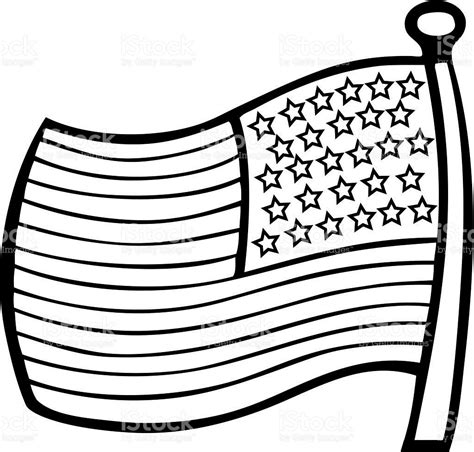template of the american flag american flag outline clip 26