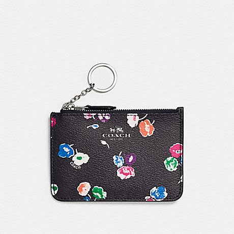 Coach Signature Batik Print Kit by Coach F65444 Key Pouch With Gusset In Wildflower Print