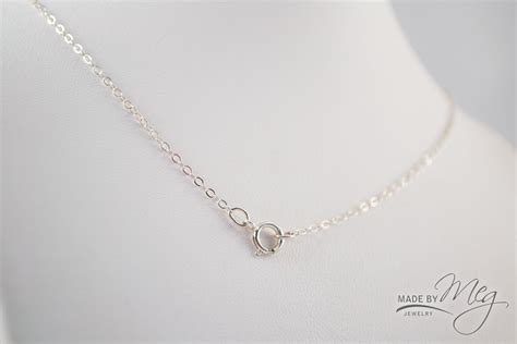sterling silver cable chain made by meg jewelry