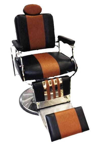 professional reclining barber chair two tone black