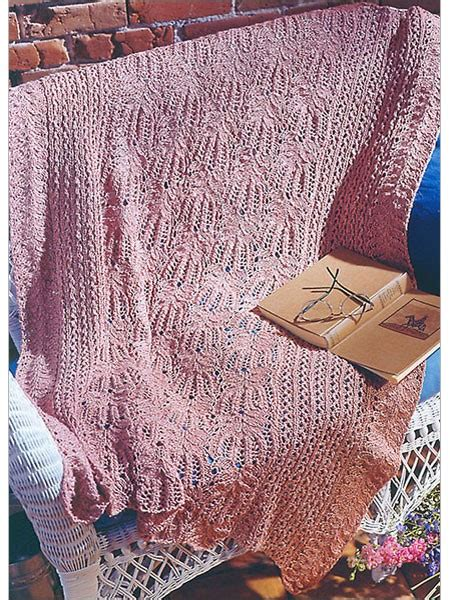 flower lace knitting pattern flower lace afghan knitting pattern