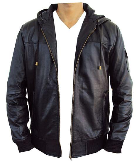 Jaket Sweater Bomber 2 new leather jacket bomber hoodie style ebay
