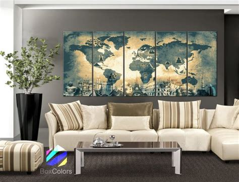 world of wonders home decor xlarge 30 quot x 70 quot 5 panels art canvas print original wonders