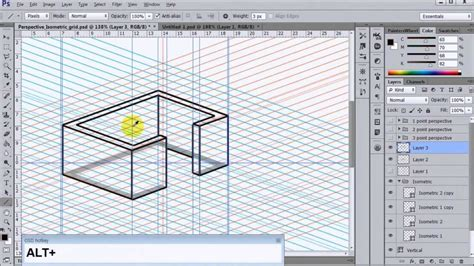 pattern in perspective photoshop photoshop perspective isometric shapes download youtube