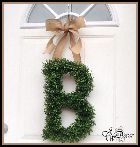 Letter Wreaths For Door by 301 Moved Permanently