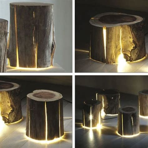 tree stump lighting palet tasarım pinterest tree