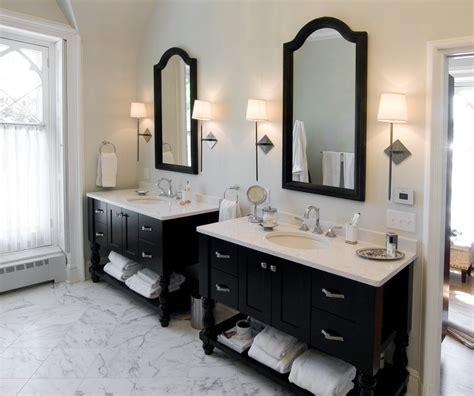 seattle double vanity bathroom farmhouse  circle