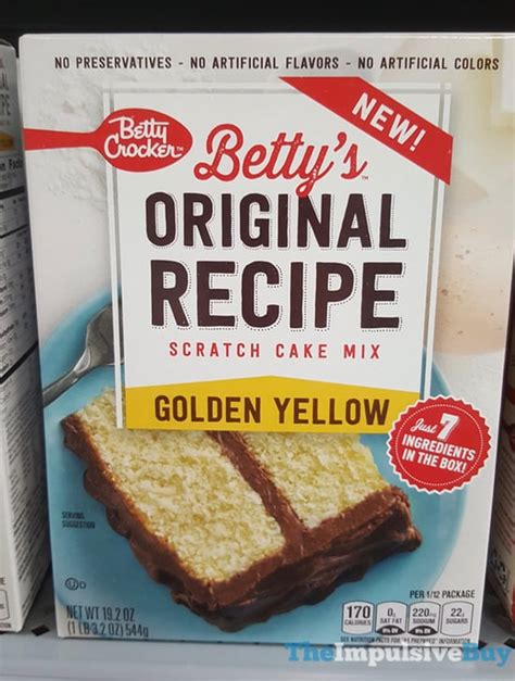 betty crocker cake mix recipes spotted on shelves betty crocker betty s original recipe