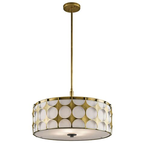 Drop Ceiling Lighting Fixtures Kichler 43276nbr Charles Modern Brass Drum Drop Ceiling Light Fixture Kic 43276nbr