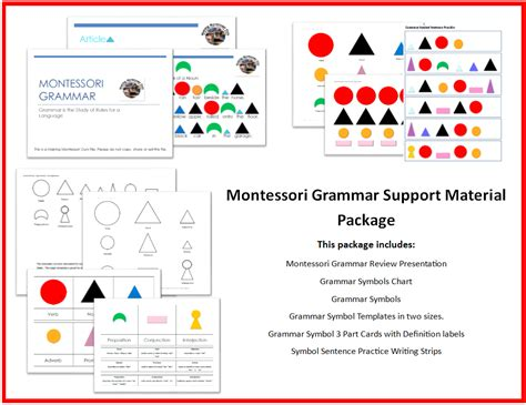 montessori grammar printable montessori grammar box noun printables quot making