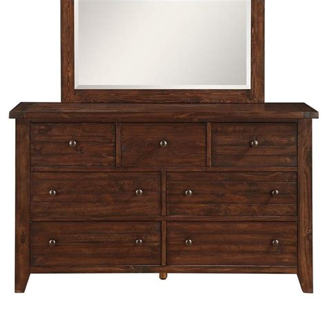 modus furniture cally dresser in medium brown 9cr182