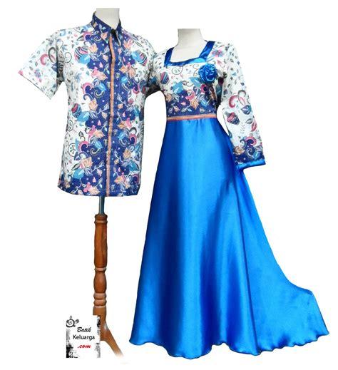 Baju Batik Muslim Biru baju muslim biru bk0256 batik keluarga batik modern
