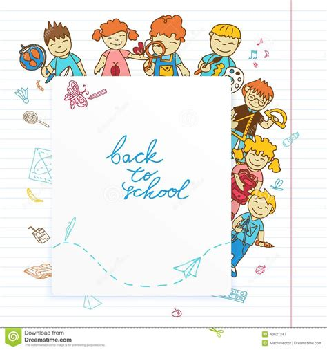 kid doodle free background with look out of the banner stock vector