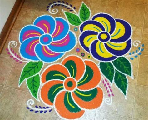 15 best rangoli designs for beginners simple and easy
