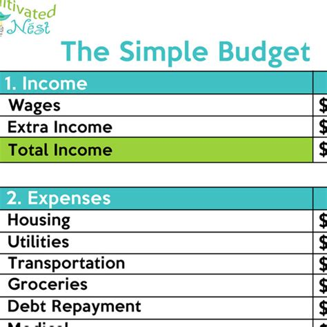How To Make A Simple Budget Easy Budget Spreadsheet Template Free