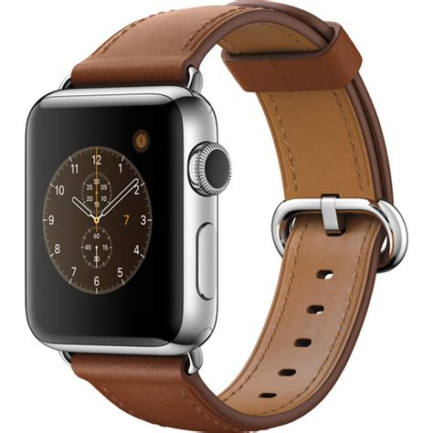 Apple Classic Saddle Brown Leather Hoco Calf Leath 15 apple series 2 38mm smartwatch mnp72ll a b h photo