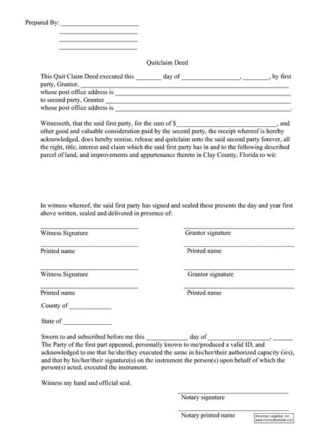 florida quit claim deed form template best photos of florida quit claim deed sle florida