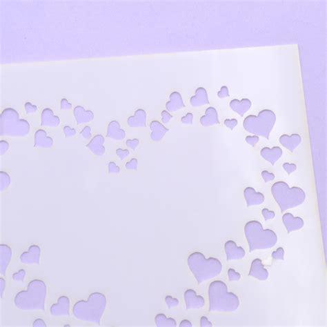 stars heart flower layering stencils template diy