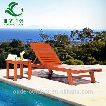 cheap price swimming pool outdoor furniture wooden sun