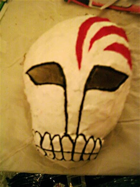 How To Make A Mask Out Of Paper - paper mache ichigo hollow mask 183 how to make a mask