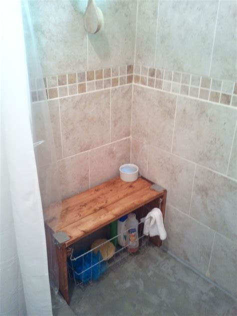 shower stall with bench this is the cutest bench and i wish i had this whole