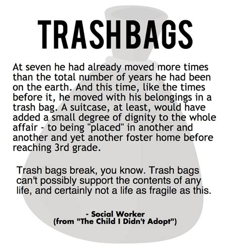 Fostering Your Child To Be A Great Leader In Crisis Trash Bags A Narrative By A Social Worker Foster