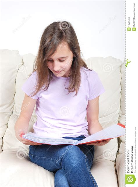 student couch girl student with a notebook royalty free stock image