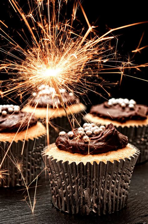 birthday cake sparklers sparkler cupcakes photograph by amanda elwell