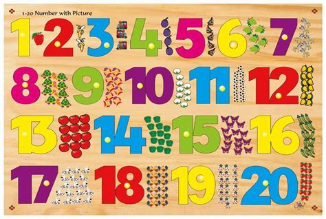Buy Kinder Creative 1 20 Number With Picture With Knob Online In India @ Best Price