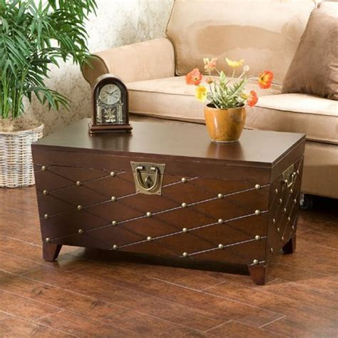 living room trunk gorgeous sei espresso nailhead cocktail table trunk with