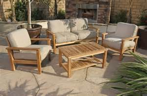 patio sets clearance 4pc gili teak outdoor patio seating