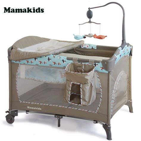 portable baby bed travel multi function baby portable crib folding bed playpen crib