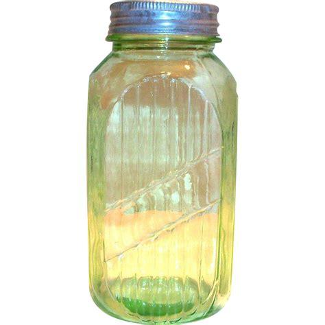 vintage green glass l vintage anchor hocking light transparent green glass 40 oz