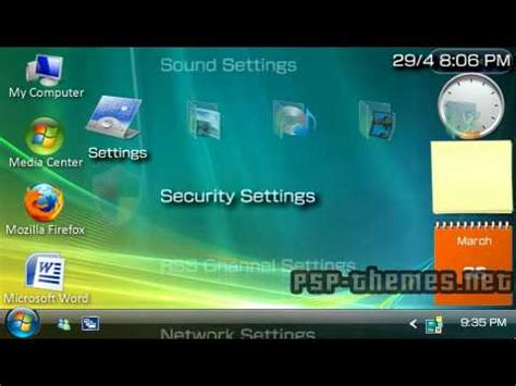 psp theme windows vista psp theme windows vista theme by j7ydg10 psp themes net