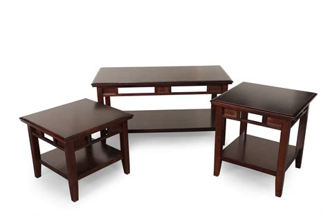 Ashley Logan Coffee Table Set Mathis Brothers Furniture Mathis Brothers Coffee Tables
